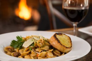 Enjoy Dinner at our Inn after Skiing in the White Mountains of New Hampshire