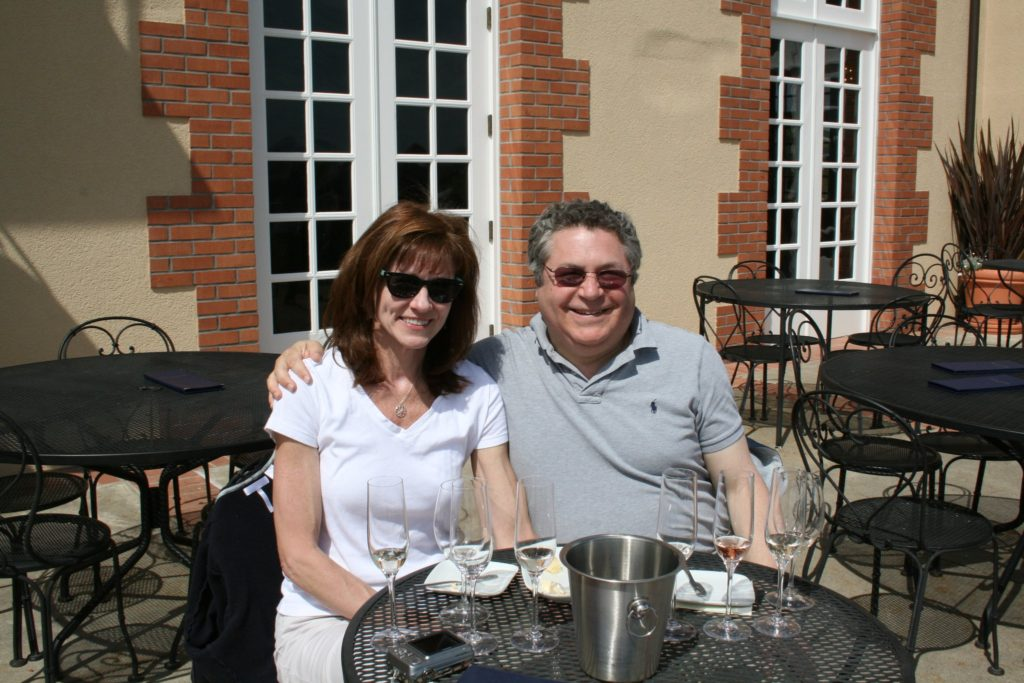 Steve and Karen at Domaine Carneros