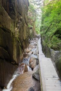 Flume Gorge Spring Hikes in the White Mountains of New Hampshire