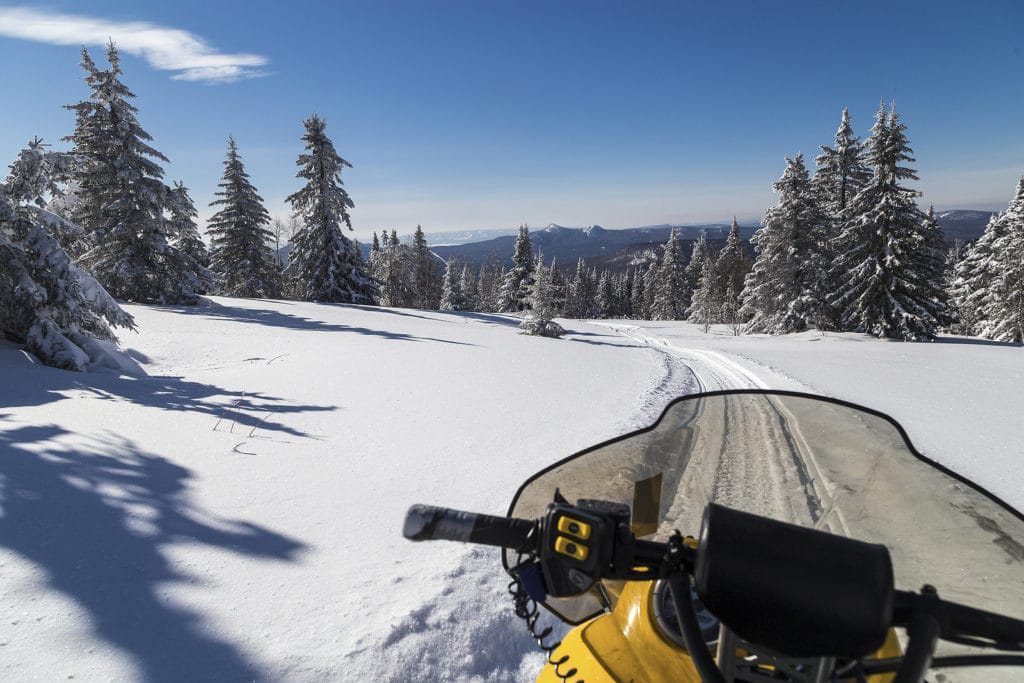 Find the Best White Mountains Snowmobiling Trails Near our luxury Bed and Breakast