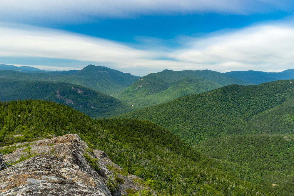 Stunning Views of the White Mountains from Lost River Gorge and Boulder Caves