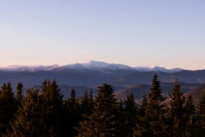 Stunning views from the summit of Mount Washington in the White Mountains